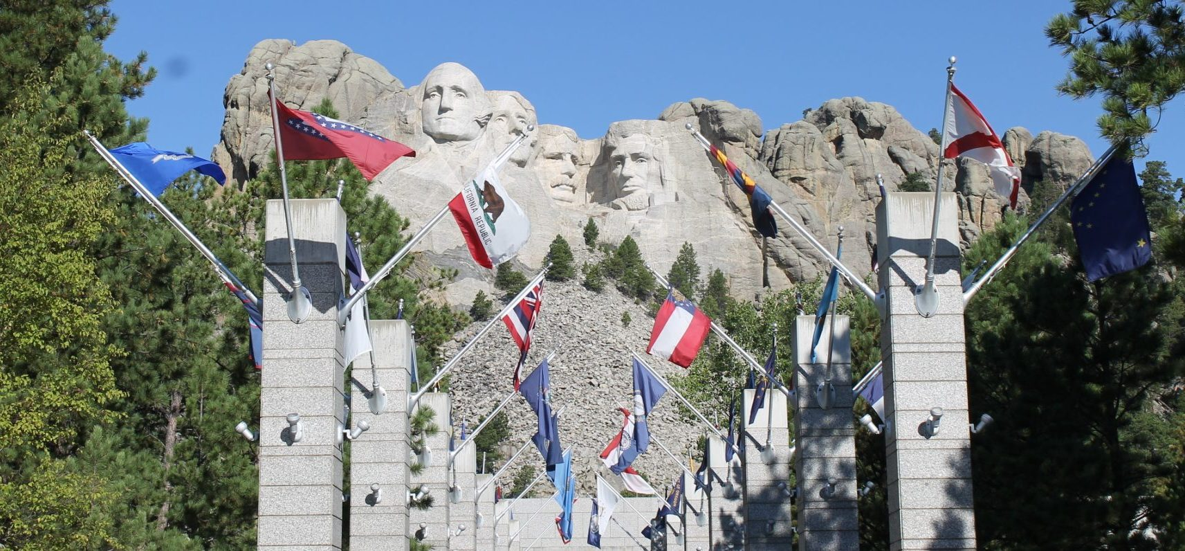 Avenue of States' Flags Mt. Rushmore